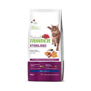 TRAINER NATURAL CAT STERILISED SALMON 10KG o Smaku Łososia