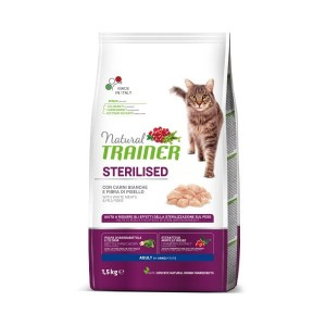 TRAINER NATURAL CAT STERILISED WHITE MEAT 10KG - Kurczak i Indyk