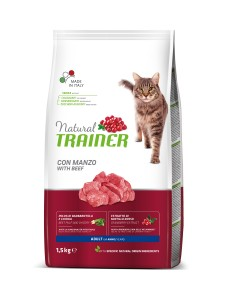 TRAINER NATURAL CAT ADULT BEEF 1,5kg