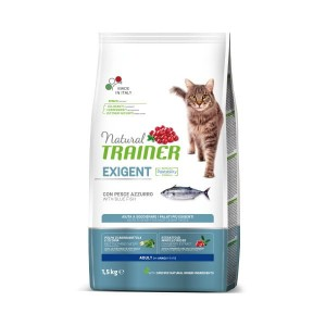 TRAINER NATURAL CAT EXIGENT BLUE FISH 1,5KG Ryba Lufar