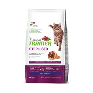 TRAINER NATURAL CAT STERILISED HAM 1,5KG Szynka Włoska