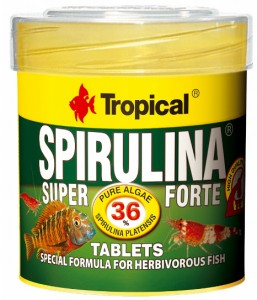 TROPICAL SUPER SPIRULINA FORTE TABLETS 50ml Pokarm W Tabletkach Dla Ryb