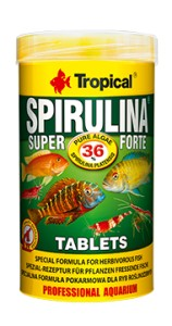TROPICAL SUPER SPIRULINA FORTE TABLETS 250ml Pokarm W Tabletkach Dla Ryb