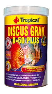 TROPICAL DISCUS GRAN D-50 PLUS 1000ml Pokarm Dla Paletek